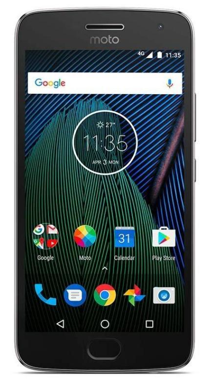 "Smartphone 5.2"" Lenovo Moto G5 Plus Dual SIM Gris - Full HD, RAM 3Go, 32Go"