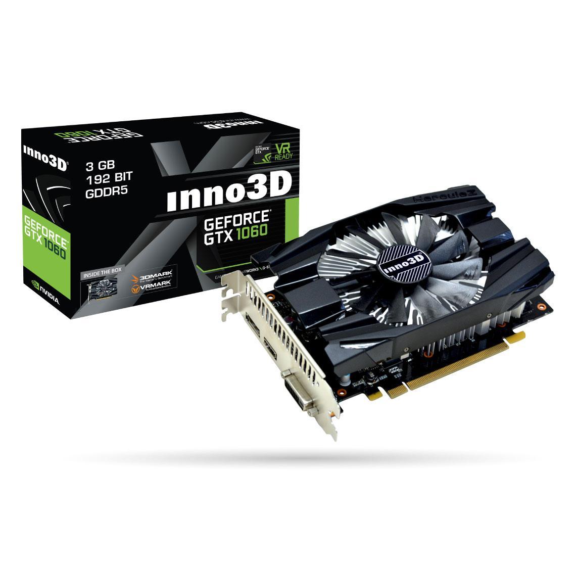 Carte graphique Inno3D GeForce GTX 1060 Compact 3 Go
