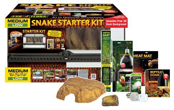 Kit de démarrage Terrarium ExoTerra Snake - 60x45x30cm