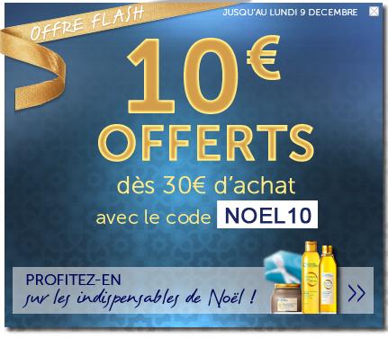10€ offerts dès 30€ d'achat pour toute 1ère commande