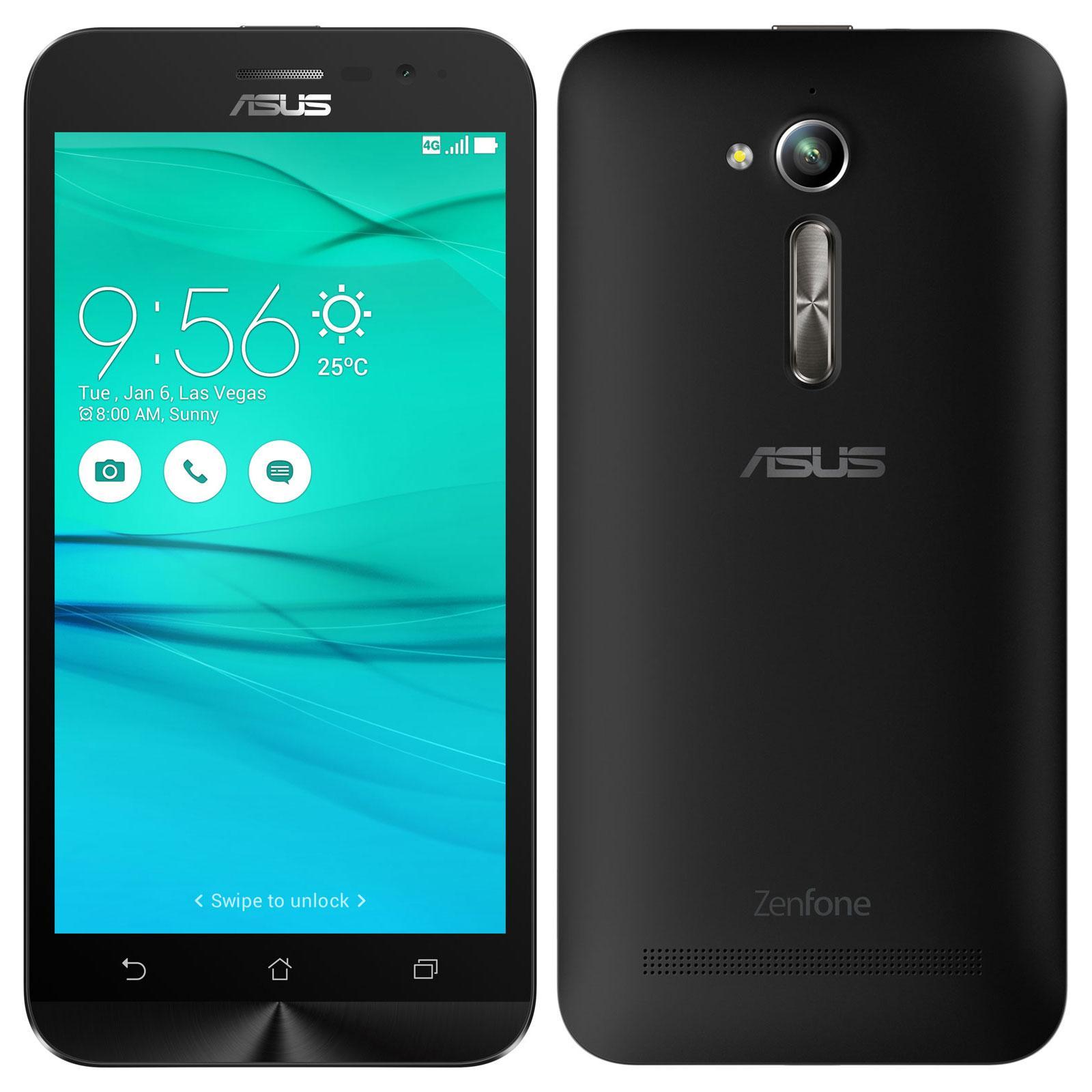 """Smartphone 5"""" Asus Zenfone Go (G500KL) - HD, 2 Go RAM, 16 Go, Noir"""