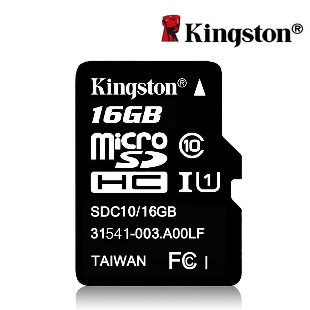 Carte microSDHC Kingston Classe 10 (jusqu'à 48 Mo/s) - 16 Go