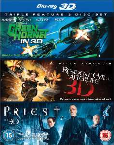 Coffret 3 Blu Ray 3D The Green Hornet  / Priest  / Resident Evil: Afterlife