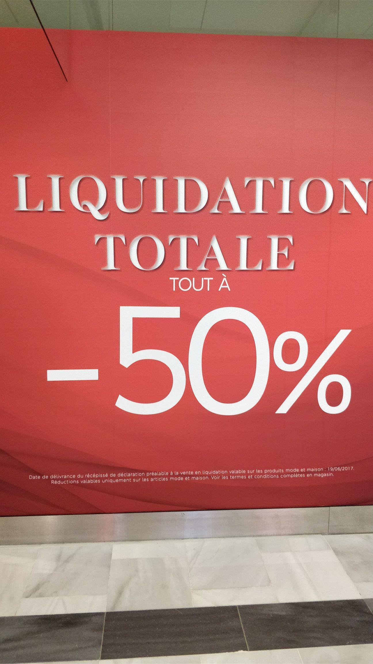 50% de réduction sur tous les articles Mode et Maison