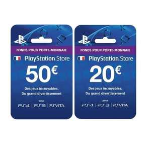 cartes pr pay playstation store 50 20. Black Bedroom Furniture Sets. Home Design Ideas