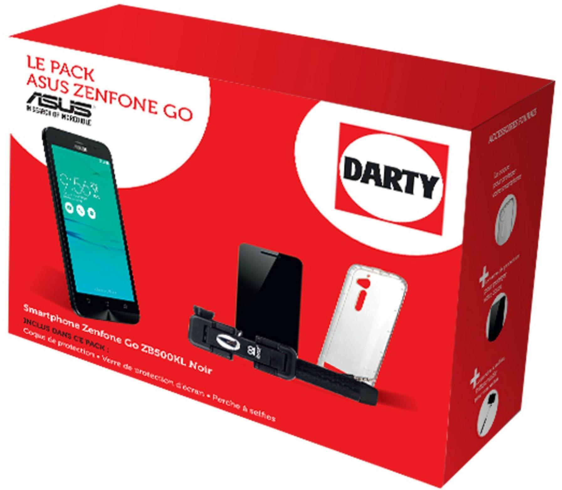 """Smartphone 5"""" Asus Zenfone Go - Noir avec Accessoires"""