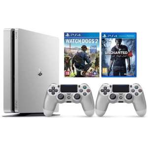 pack console sony ps4 slim silver 500 go 2e manette. Black Bedroom Furniture Sets. Home Design Ideas