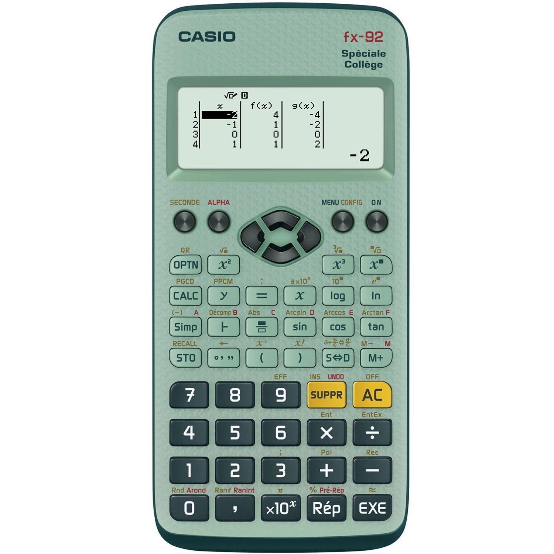 Sélection de fournitures scolaires 100% remboursés en 2 bons d'achat - Ex : Calculatrice Casio FX-92 2D spécial collège + 2 bons d'achat de 7.49€ (via ODR)