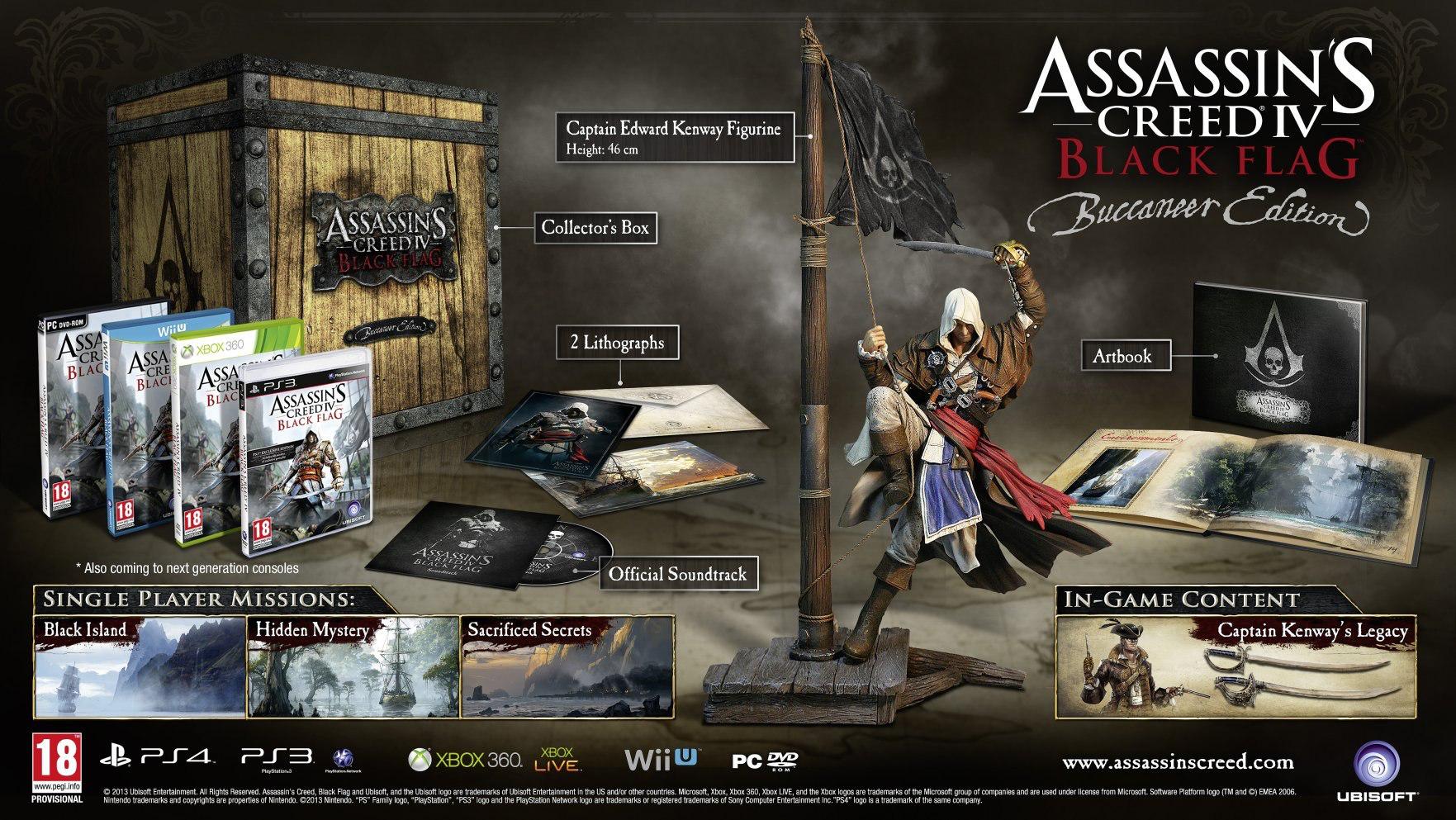 Assassin's Creed 4 Black Flag Edition Buccaneer + Drapeau Exclu sur PS3