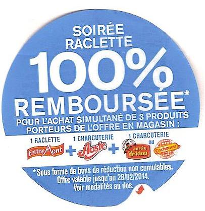 soirée raclette 100% remboursée en BDR