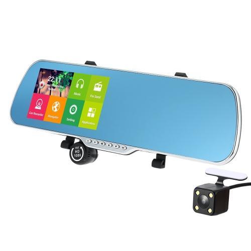 """Rétroviseur connecté - Ecran 5"""", Android, GPS, Dashcam"""