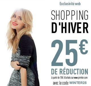 25€ de réduction dès 70€ d'achats
