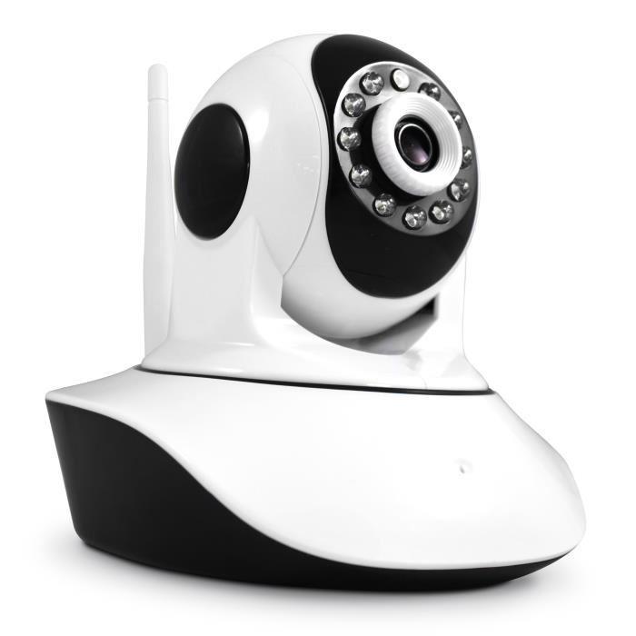 Caméra de surveillance IP Avidsen 123288 - Motorisée, WiFi, Vision Nocturne, Détection de mouvement, 720p