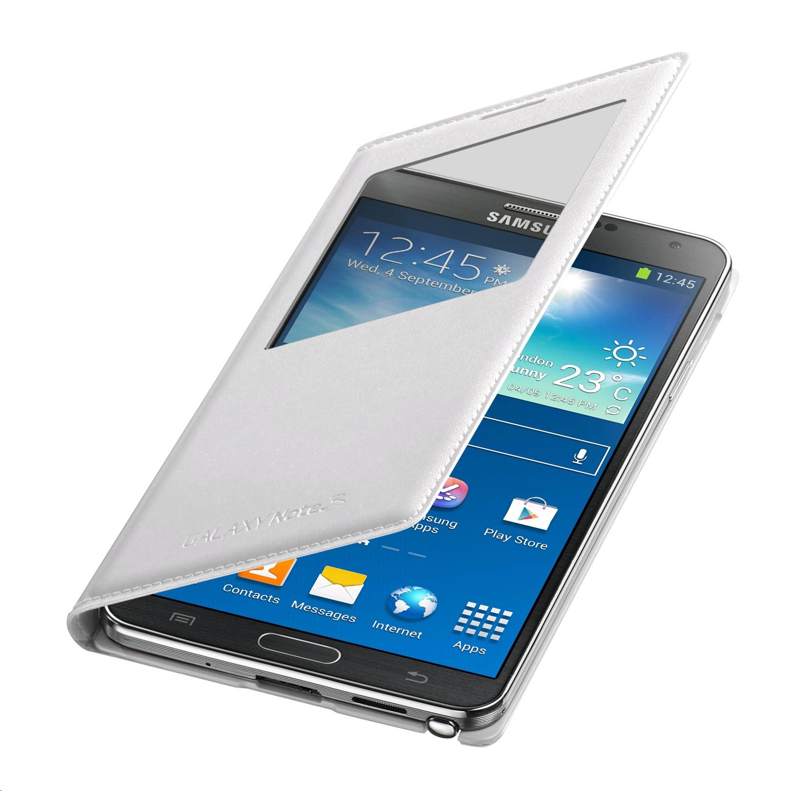 Galaxy Note 3 Original Samsung S-View White Cover