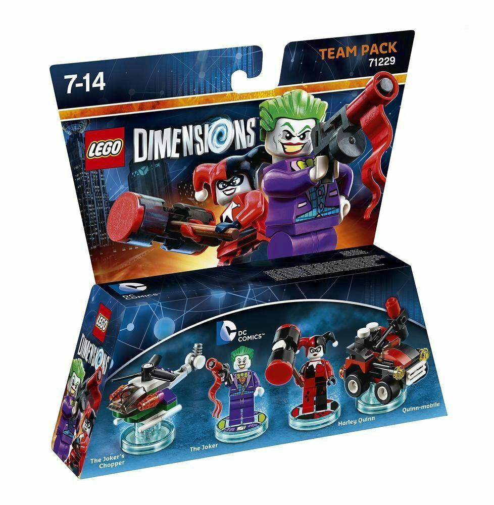 Figurines LEGO Dimensions DC Comics - The Joker et Harley Quinn