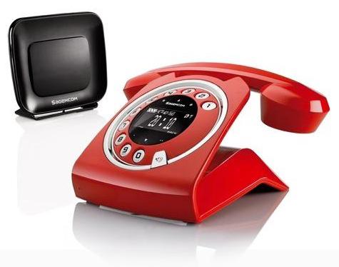 Téléphone sans-fil Sagemcom Sixty Everywhere rouge répondeur