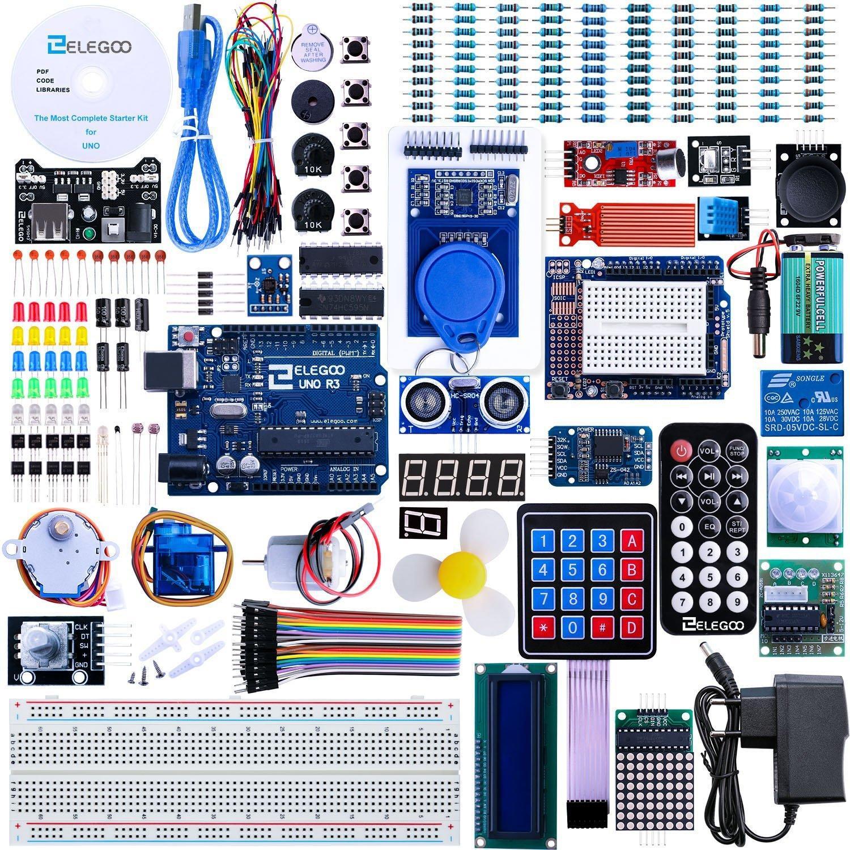 Kit de démarrage Elegoo Arduino - Compatible Carte UNO R3 avec Guide d'utilisation Français