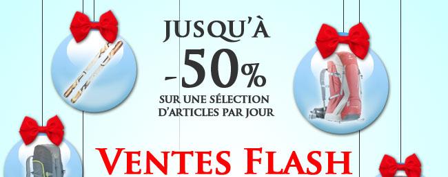Ventes Flash : Jusqu'à -50% de réduction sur une sélection d'articles