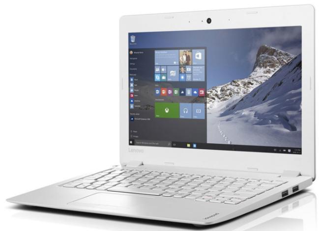 "PC Portable 11.6"" Lenovo Ideapad 100s 11iby Blanc - IPS HD, RAM 2Go, 32Go, Windows 10"