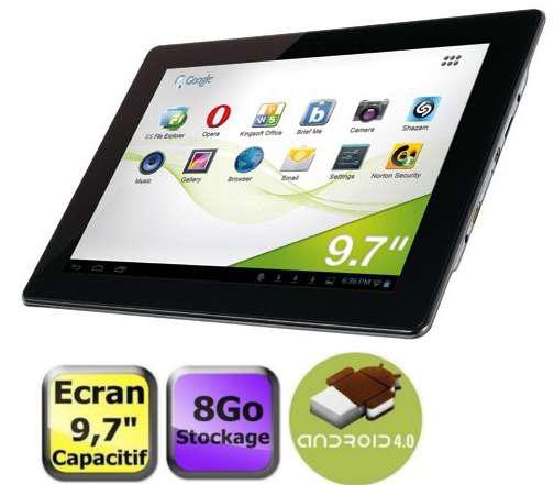 "Tablette Memup Slidepad NGT9708 9,7"" 8 Go - Reconditionné"