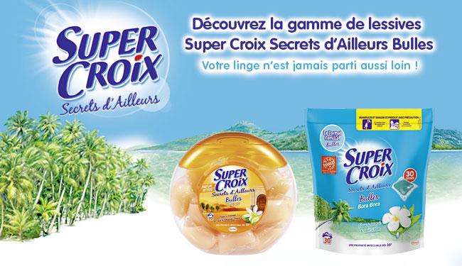 Lessive Super Croix Bulles gratuite + gain (Avec remboursement via Promoland et Merci qui)