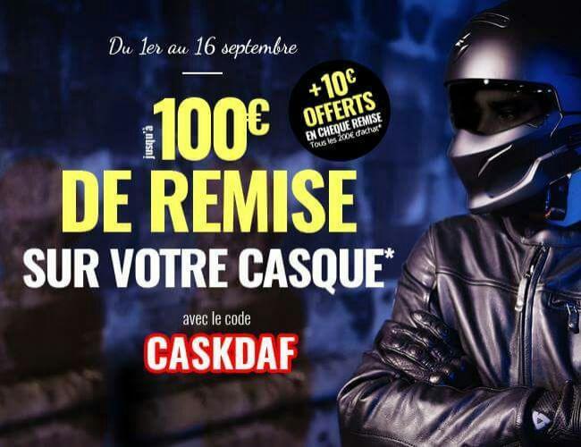 Jusqu'à 100€ de réduction pour l'achat d'un casque - Ex : 15€ de réduction dès 100€ d'achat sur tout le rayon casque