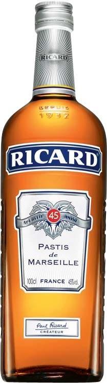 Lot de 2 bouteilles de Ricard Pastis de Marseille - 1L (via 9.23€ sur la carte)