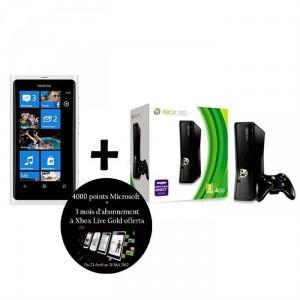 NOKIA LUMIA 800 Blanc + XBOX 360 + 4000 points Microsoft + 3 mois Xbox Live Gold