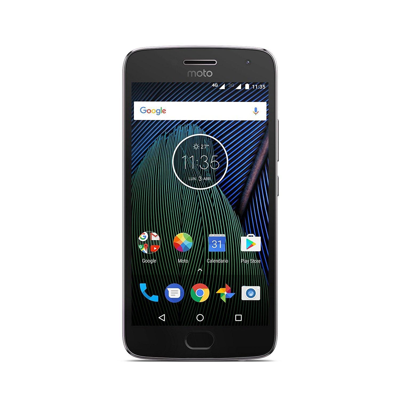 """Smartphone 5.2"""" Motorola Moto G5 plus - 32Go, 3Go de Ram, Double Nano-SIM, Android 7.0, Gris ou Or"""