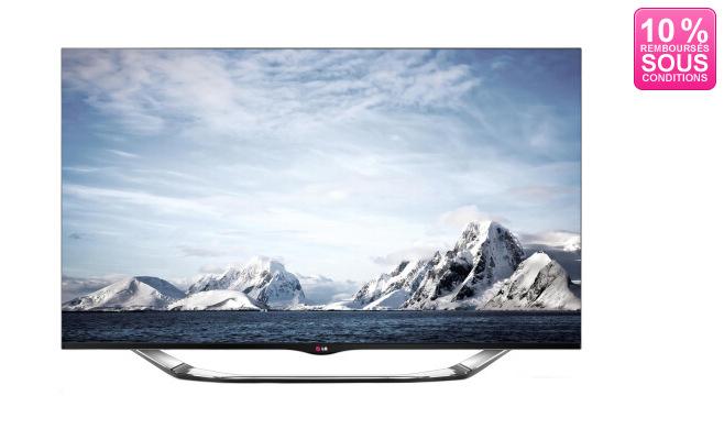 """TV 47"""" LG 47LA860V 3D 800Hz, Smart TV, Wifi + 6 paires de lunettes (Avec ODR de 10%)"""