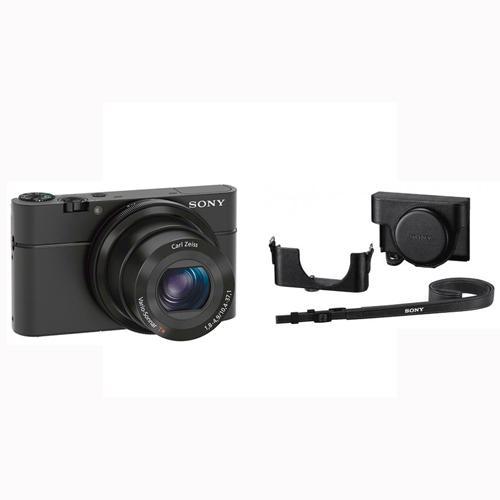 Appareil photo numérique Sony Cyber-shot DSC-RX100 Noir + Housse cuir Sony