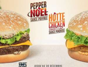 Burger « Pepper Noël » et « Hotte Chicken »