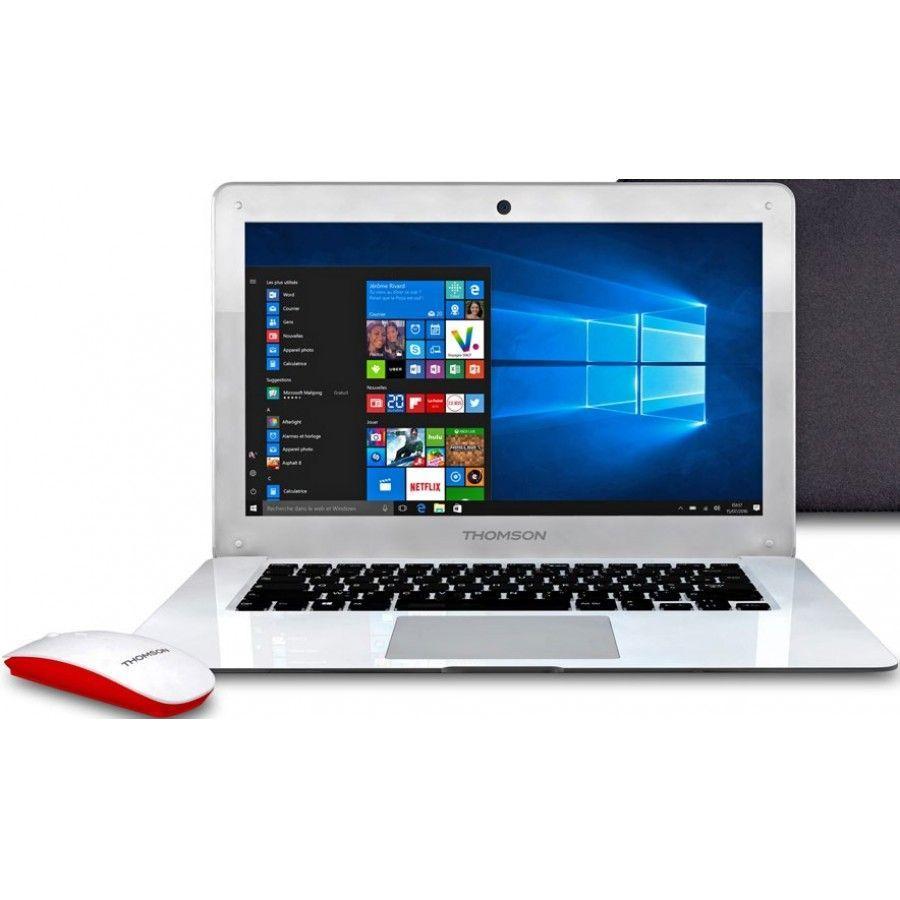 "Pc Portable 14"" Thomson - 2 Go RAM, 32 Go ROM, Intel Atom, Windows 10 + Saccoche + souris"