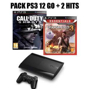 Console PS3 12Go + Call of Duty Ghost + Uncharted 3