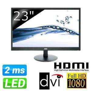 "Ecran PC 23"" AOC E2370sh 5ms Full HD - HDMI"