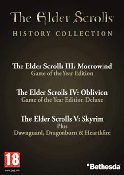 The Elder Scrolls History Collection (Morrowind GOTY + Oblivion GOTY+ Skyrim & DLC) sur PC - Dématérisalisé