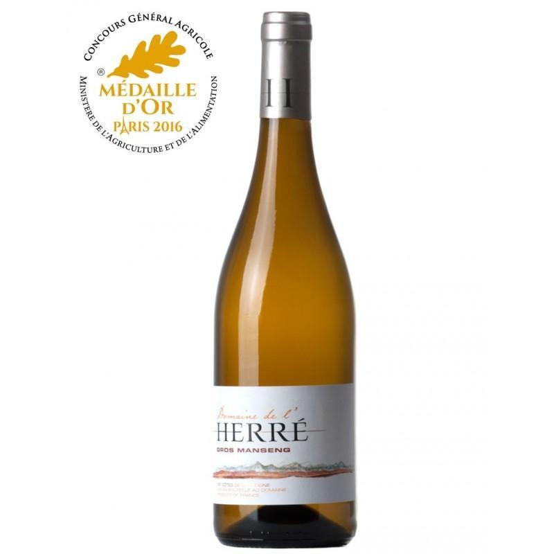 """Vin blanc Domaine de l'Herré """"Gros Manseng"""" - 75cl, 2016"""