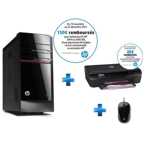 PC de bureau HP Envy H8-1504ef  + imprimante HP Envy 4502 Wifi + souris filaire (Avec 150€ d'ODR)