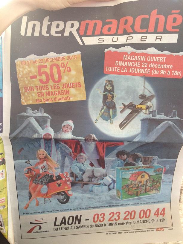 -50% sur tous les jouets