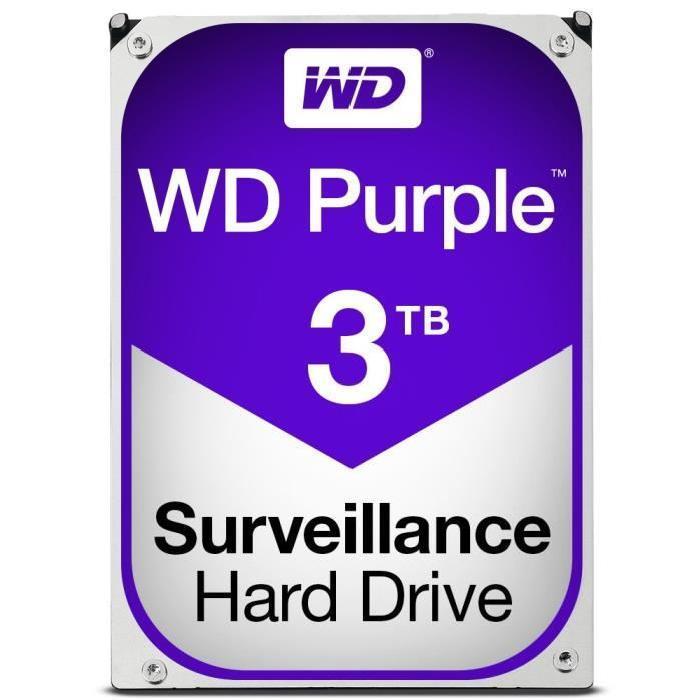 "Disque dur interne  3.5"" Western digital Purple (vidéosurveillance) - 3 To"