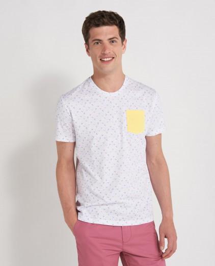 70% de réduction sur une sélection d'articles - Ex: T-shirt homme à poche - Taille L, XL et XXL, Blanc