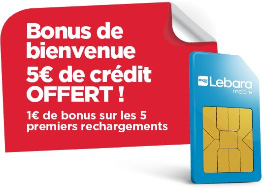 2 cartes sim gratuites avec 1€ offert sur les 5 premières recharges