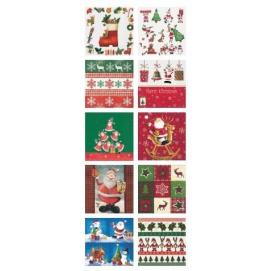 Jusqu'à -70% sur la décoration de Noël - Ex: Assortiment de 10 serviettes à motif Noël