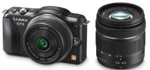 Appareil photo Hybride Panasonic Lumix GF5W 12,1 Mpix + 2 Objectifs 14mm et 14-42 mm