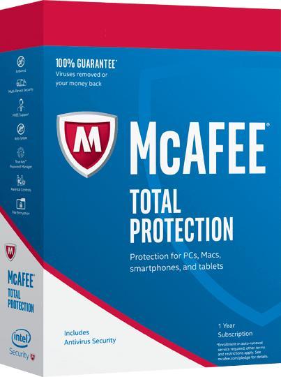 Logiciel anti-virus McAfee Total Protection sur PC / Mac (dématérialisé)
