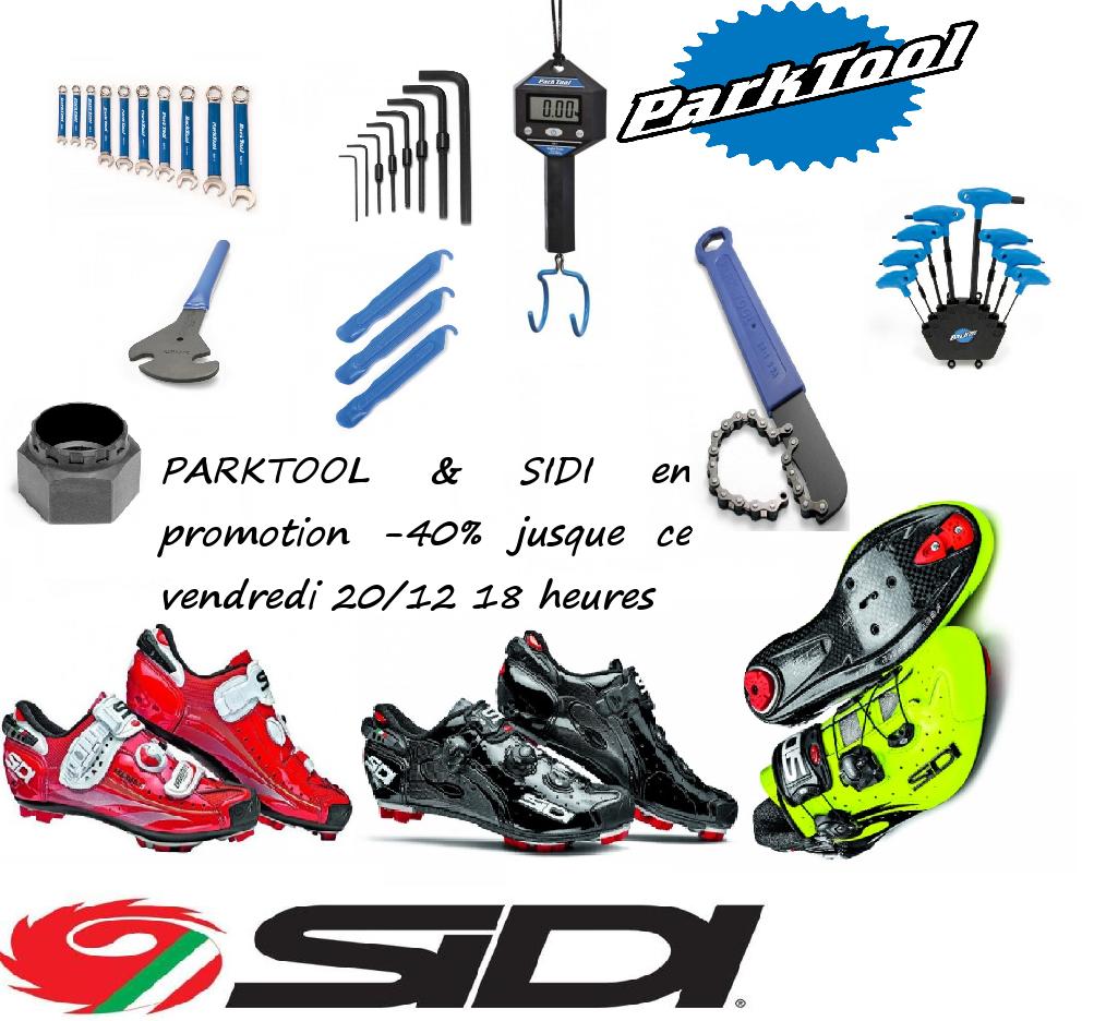 -40% sur les accessoires vélo Park Tool et les chaussures vélo Sidi