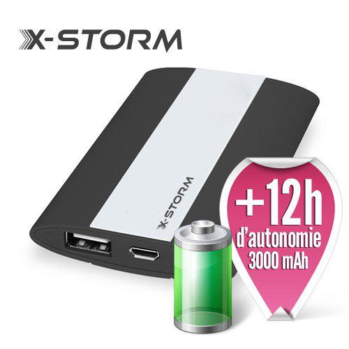 Batterie externe de secours X-Storm PowerGo Mini Noir 3000 mAh (+12h d'autonomie)