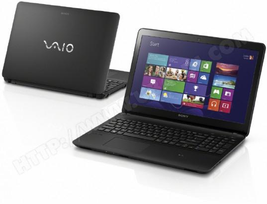 "Ordinateur portable tactile 15"" Sony Vaio SVF-1521S2EB - i5 3337U 1,80 GHz, 750 Go, 6144 Mo,  Nvidia GT740M"