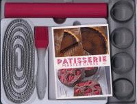 Livre de recettes Pâtisserie Master Class + accessoires de cuisine (cercles, chaîne / tapis de cuisson et pinceau)
