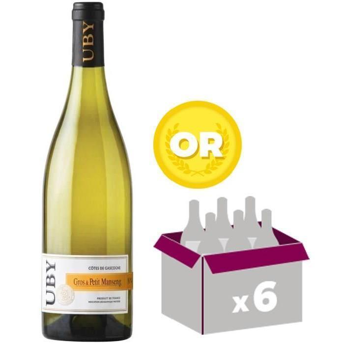 [CDAV] Lot de 6 Bouteilles de Vin blanc Uby N°4 Côtes de Gascogne Gros et Petit Manseng
